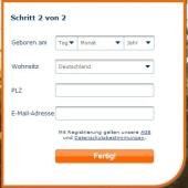 Email-Adresse und Wohnort