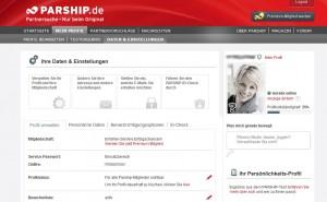 Parship Profil anklicken