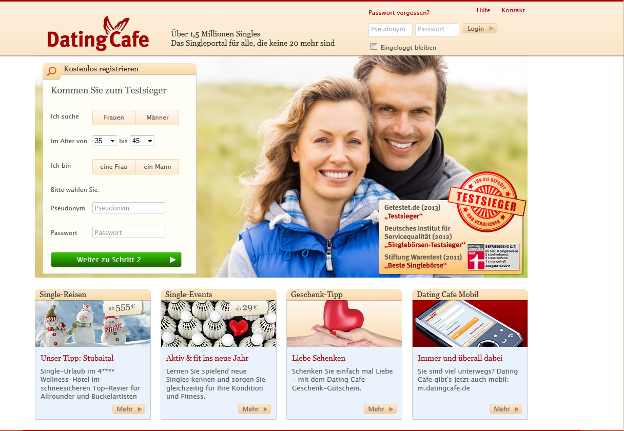 dating cafe deutschland Start online dating with match uk sign up for free and get access to dating profiles of singles, take the opportunity to attend match singles nights and other dating events near you.